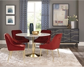 Contemporary Marble Top Dining Set
