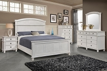 Carolina Panel Bedroom Set Antique White