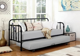 Black Day Bed with Trundle