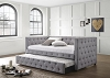 Mockern Upholstered Daybed With Trundle Light Grey