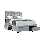 OUT OF STOCK - Shelburne 4-Drawer Button Tufted Storage Bed Beige