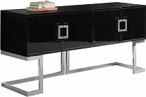 Beth Buffet | Console Table with Chrome Base- white or black
