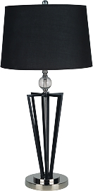 Painted Base Table Lamp with Crystal