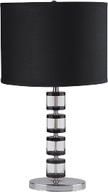 Genuine Crystal Table Lamp with Dark Accents