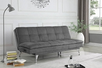 Royer Upholstered Sleeper Sofa Bed With Power Outlet Grey Collection: Royer