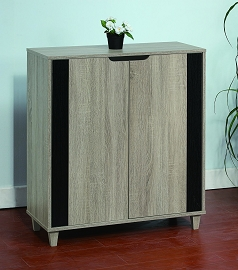 Norina Dark Taupe Wood Shoe Cabinet