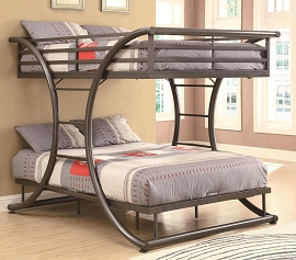 Bunks Full/Full Contemporary Bunk Bed