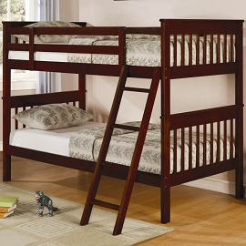 Cappuccino Twin/Twin Bunk Bed