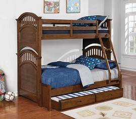 Twin over Full Wooden Bunk Bed