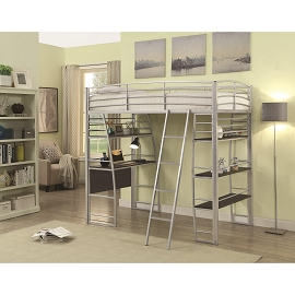 Escalon Twin Workstation Bed with Open Shelving