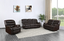 Dark Brown Leather Sofa only - Add options