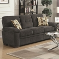 Fairbairn Sofa Casual Style Dark Grey Fabric