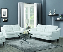 Freeport Tufted Back Sofa only - Snow White