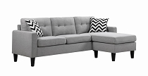 Light Grey Reversible Sectional (Available after 11/26/20)