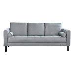 Lennox Track Arm Upholstered Sofa Charcoal