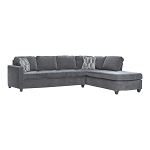 Mccord Plush Chenille Sectional in Dark Grey ( Available after 12/03/20)