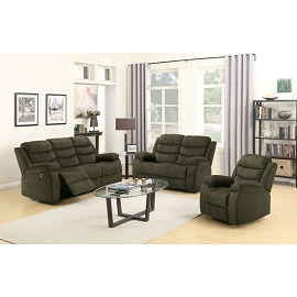 CUINN - Chocolate Velvet Motion Sofa Set