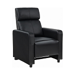 Toohey Home Theater Push Back Recliner Black