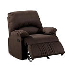 Upholstered Glider Recliner Chocolate
