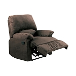 Upholstered Recliner Chocolate