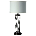 Metal Curves Table Lamp, White