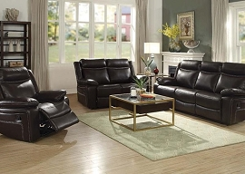 CORRA - Espresso PU Motion Sofa Set
