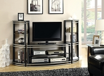 Black and Silver Finish Curved TV Stand (COPY)