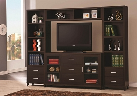 Wall Units Cappuccino Entertainment Wall Unit