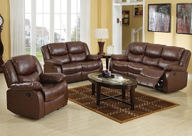 FULLERTON - Brown Bonded Leather Match Motion Sofa