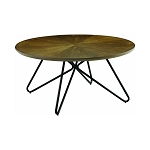 Churchill Round Coffee Table Dark Brown And Black