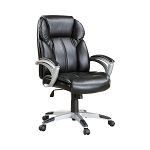 Adjustable Height Office Chair Black And Silver