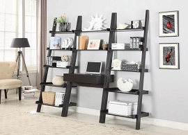 Bower 5-Shelf Ladder Desk Bookcase Cappuccino