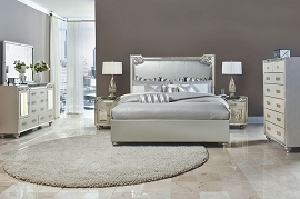 Aico Bel Air Park Upholstered Bed in Champagne