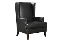 Wing Back Accent Chair with Nail Head Trim