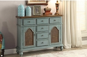 Telissa Antique Blue Finish Console Table