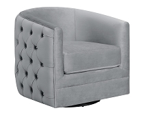 Upholstered Swivel Accent Chair Grey