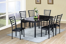 7 Pcs heavy duty metal Dining Table Set