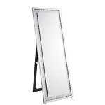 ACME Nysa Accent Mirror (Floor) - 97025 - Mirrored & Faux Crystals