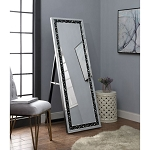 ACME Noor Accent Mirror (Floor) - 97158 - Mirrored & Faux GemStones