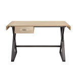 ACME Danton Desk - 92424 - Industrial - Aluminum, Frame: Ply, Metal (Iron) - Gold Aluminum