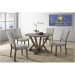 Anna Transitional Antique Light Grey 5PC Dining Set