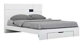 Aria White Collection Bed Frame