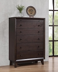 Bingham 5-Drawer Rectangular Chest Brown Oak