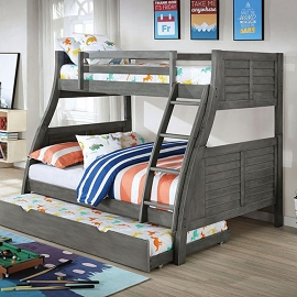 HOOPLE Grey TWIN/FULL BUNK BED