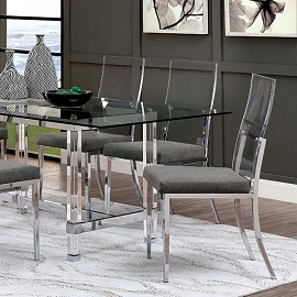 5 Pcs Acrylic Casper Dining Table Set (OUT OF STOCK Call Store for ETA)