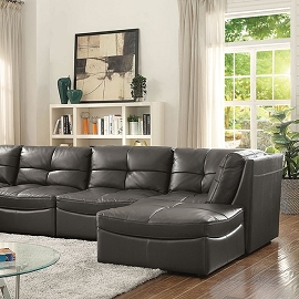 6 Pcs Grey Sectional Modular