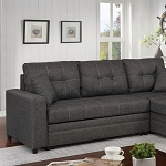 Vide Grey Linen Sectional- with pull out sleeper Bed