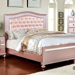 Ariston Pink Bed Frame with Tufted Diamond Buttons   (out of stock july 22)