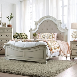 Antique White wash Pembroke Bed Frame (Out of Stock) Call Store for ETA