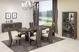 Gray Dining Table and 6 Chairs